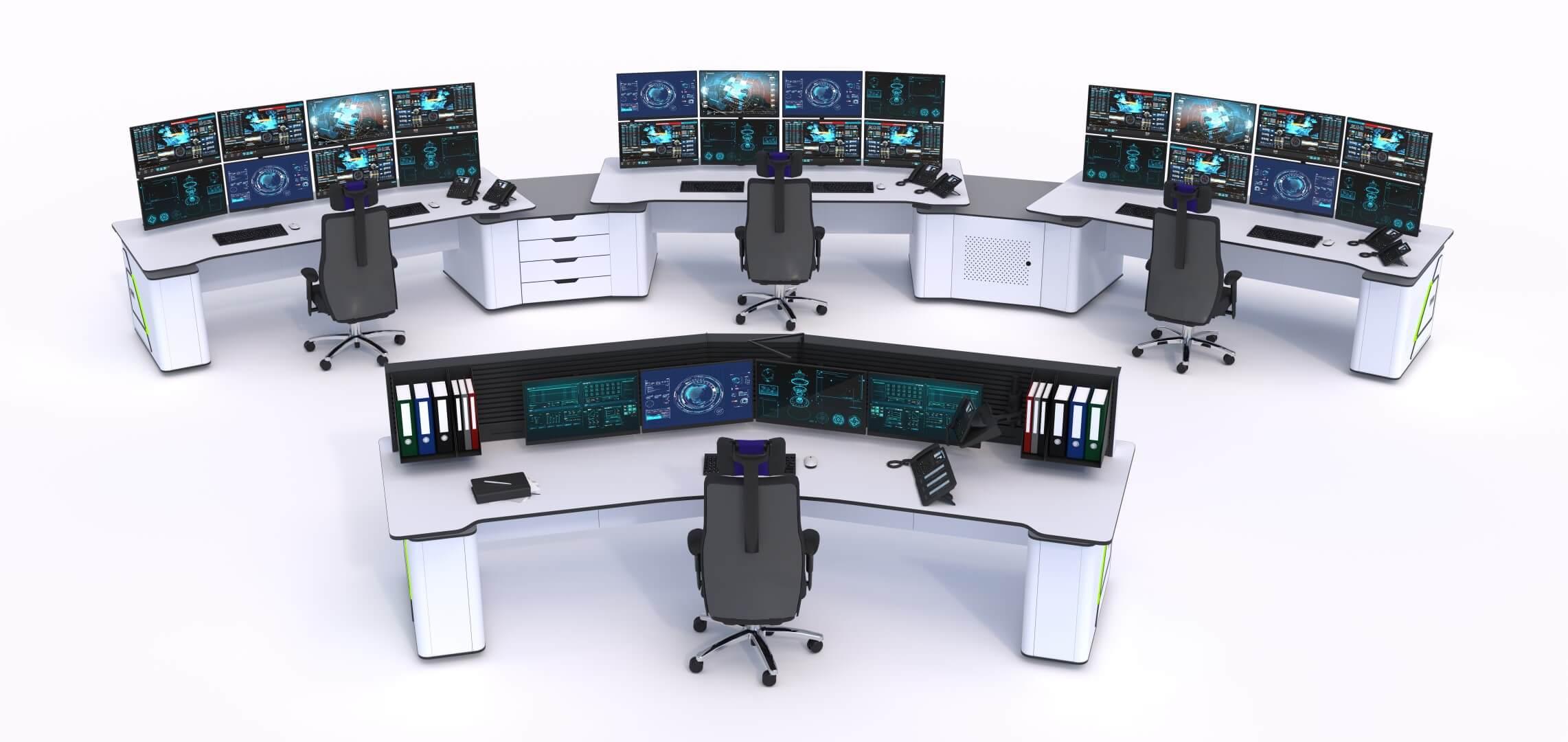 Диспетчерская мебель Атлант Форт с пультом старшего диспетчера