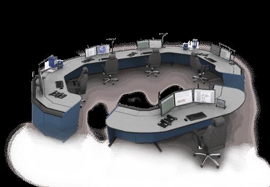 Пульт оператора Атлант ТЕРРА Конфигурация на пять рабочих мест