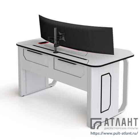 Стол оператора Атлант ДЕЛЬТА оснащен фронтальным и тыловым доступом в технический отсек