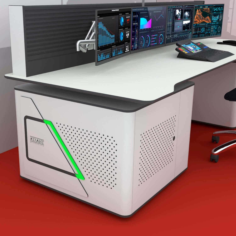 Стол диспетчера Атлант ФОРТ с подсветкой боковины