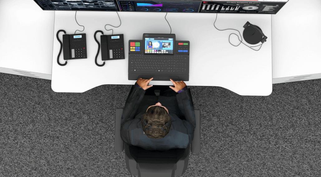 Стол диспетчера Атлант ФОРТ с подъемной эргономичной столешницей